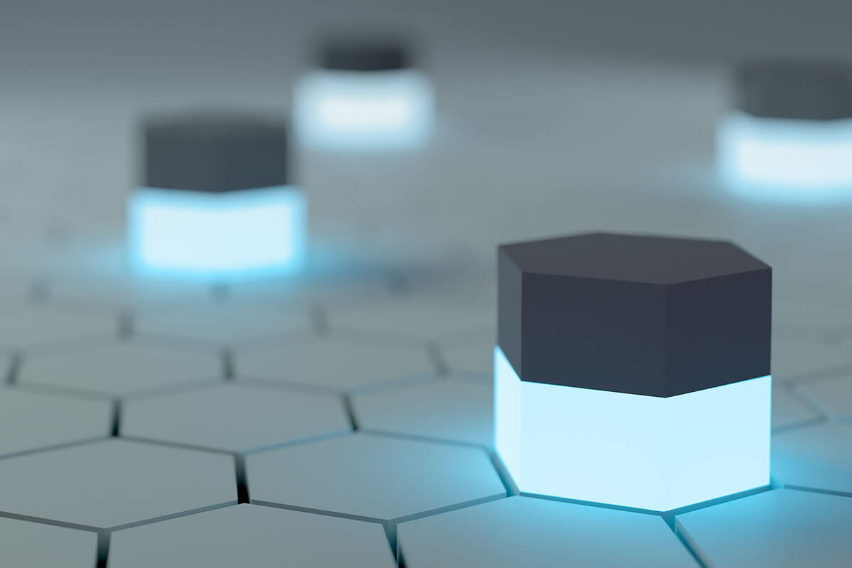 hexagons-with-lights